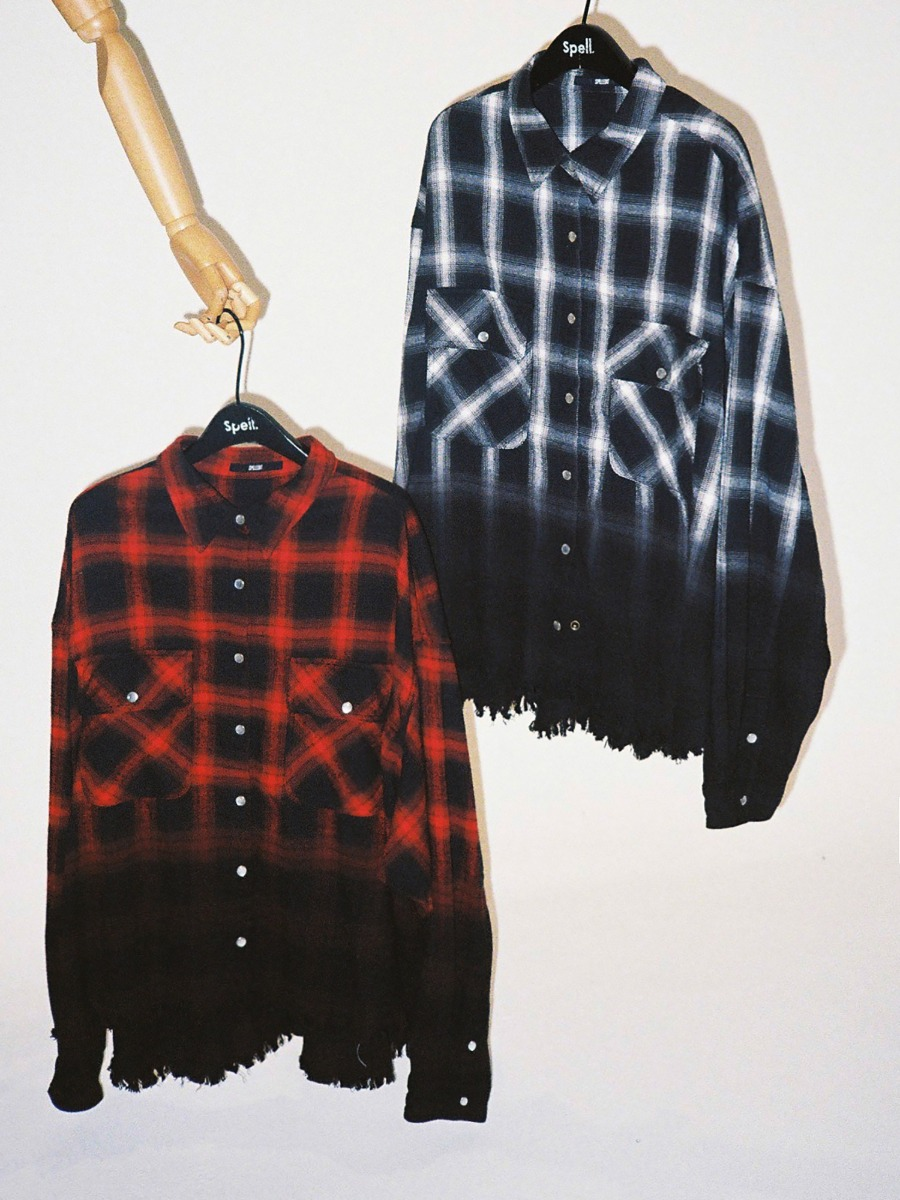 GRADATION CHECK SHIRT